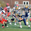Courtney Caughey-Stambul/NEWS<br /> Josiah Bloise picks up yardage for the Greyhounds on Saturday against Fairview.