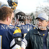 Courtney Caughey-Stambul/NEWS<br /> Wilmington coach Terry Verrelli talks with a player following Saturday's victory over Fairview. With the win, Verrelli tied the District 10 record for coaching wins set by J.B. Leidig.