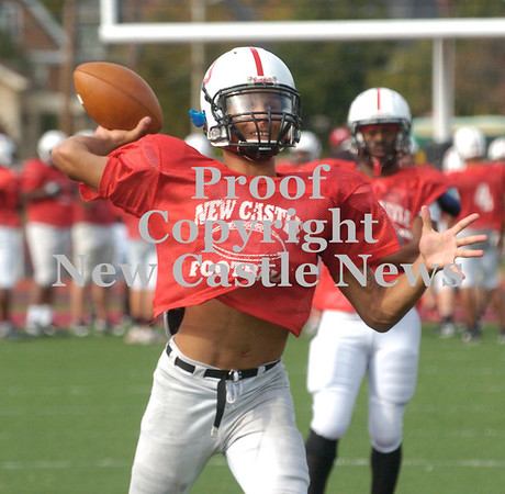 Erica Galvin/NEWS<br /> Julian Cox throws the ball down the field to a teammate during practice.