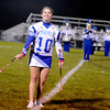 Courtney Caughey-Stambul/NEWS<br /> A Union majorette twirls pink batons during the Scotties halftime performance.