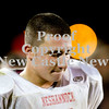 Scott R. Galvin / NEWS<br /> Neshannock's Frank Antuono walk around the sideline during the final minutes of the game against RIverside in the junior high football championship on Thursday.  Neshannock lost the game 6-59.
