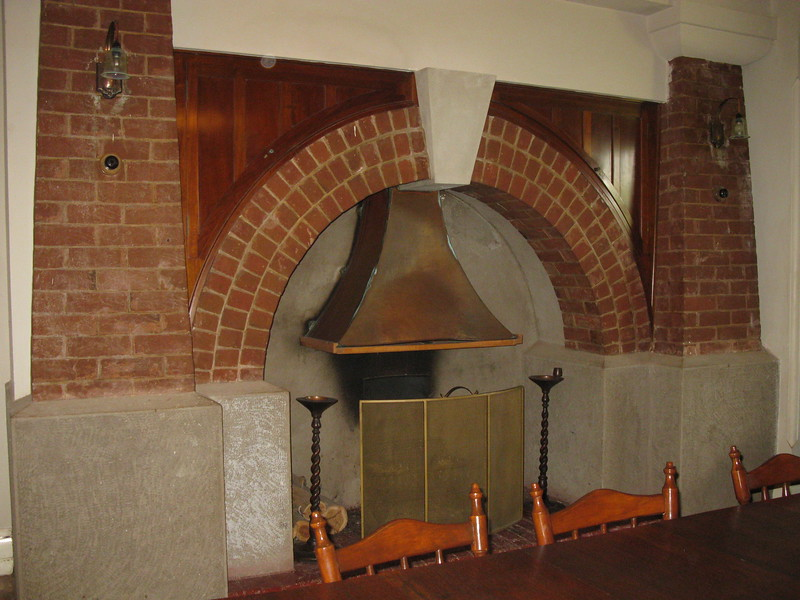 Fireplace in the men's smoking room