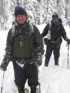Bob and Rick braving the storm.