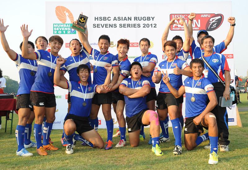 台灣橄欖球代表隊在亞洲七人制循迴賽孟買站勇奪銅牌