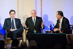 Bret Stephens, Malcolm Hoenlein and Amb  Dan Gillerman, Chairman AIFL Israel