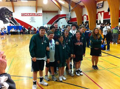 Adam Volunteering With Special Needs Basketball