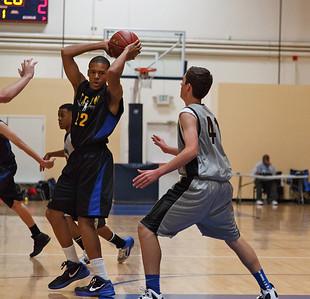 Adam's First Basketball Match 2012 Season