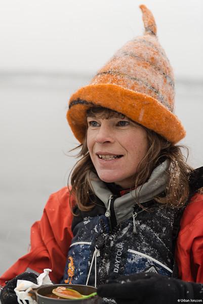 Johannas snöstormhatt.