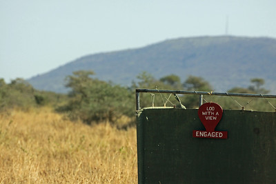 Serengeti - Balloon Flight - A Loo with a View...