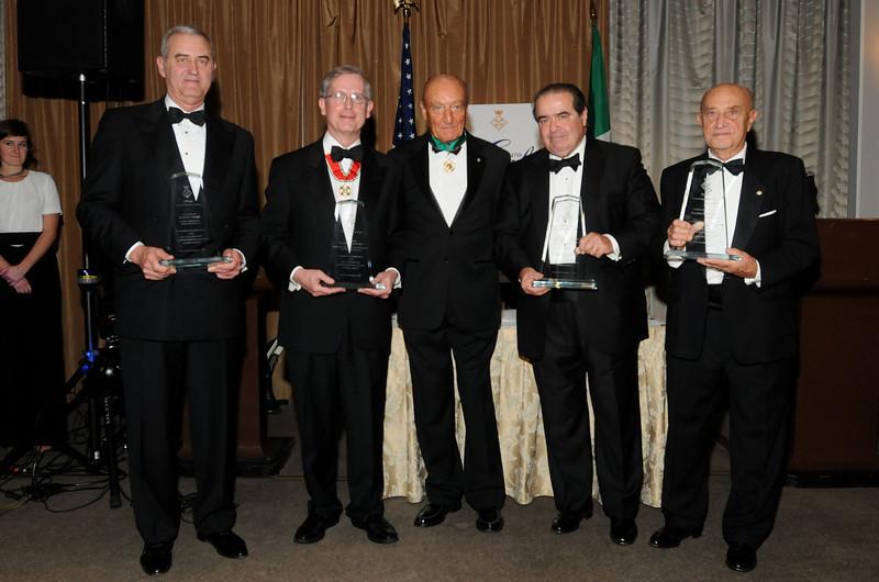 Dr Michelassi, Dr Lucio Caputo (ASILM President), Justice Antonin Scalia and Maestro Arnaldo Pomodoro (Photo Credit: ASLIM by Walter Karling)