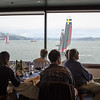 Watching the races from the St Francis Yacht Club dining room