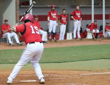 Number 15, Dusty Quattlebaum, at bat.