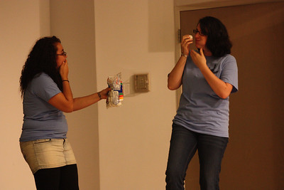 Idioms being performed  during Deaf Performance Night
