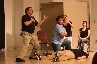 """""""The emergency room"""" skit performed during Deaf Performance Night"""