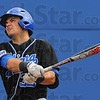 Tribune-Star/Jim Avelis<br /> Gone: Indiana State's Jeremy Lucas watches his home run head over the left field wall. The blast put the Sycamores up 2-1 over the visiting Nebraska-Omaha Mavericks.