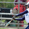 Tribune-Star/Jim Avelis<br /> Grand slam: St. Mary-of-the-Woods batter Carly Painter hits a grand slam, scoring the winning runs in the Pomeroy's win over cross county rival Rose-Hulman.