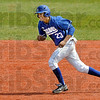 Base runner: Indiana State's #23, Landon Curry runs the bases during game action against Illinois State Sunday afternoon.