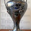 Trophy: The Newport Hill Climb trophy from 1910 is on display in the newly remodled Lions Club office.