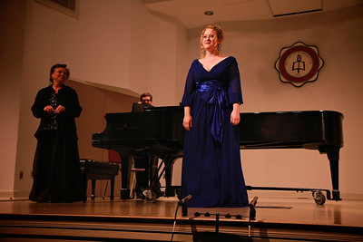 Vocal performance by Mary Grace Knotts, Soprano, in Blanton Auditorium; April 03, 2012.
