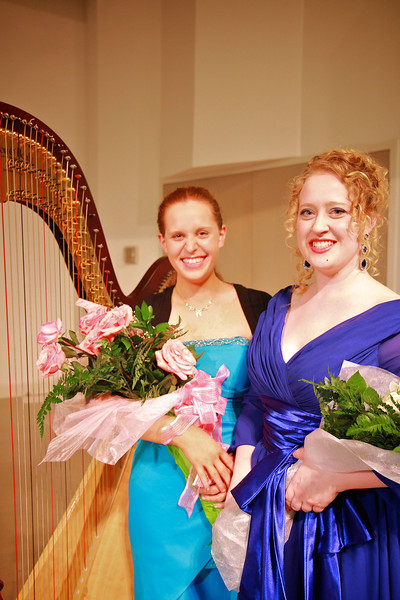 Vocal and Harp performance in Blanton Auditorium by Mary Knotts and Hannah Blalock; Spring 2012.