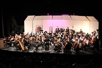 "GWU Orchestra performed with special guests: The Crest High School Advanced String Orchestra. The Program included; Pictures at an Exhibition, Symphony #7 in A Major, ""Cool"" from West Side Story and 1812 Overture."