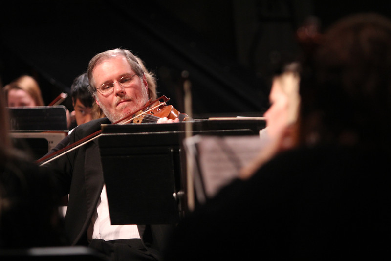 """GWU Orchestra performed with special guests: The Crest High School Advanced String Orchestra. The Program included; Pictures at an Exhibition, Symphony #7 in A Major, """"Cool"""" from West Side Story and 1812 Overture."""