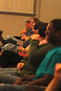 Audience members enjoy Deaf Performance Night on Friday April 20th.