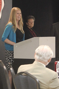 Jordan Love accepts her Who's Who Award and speaks about her most influential GWU staff/faculty member, Lisa Yerrick