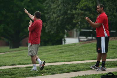 Students cheer as one of the rockets take off.