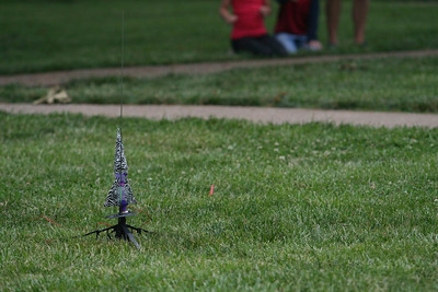 Students participate in a Rocket Building Contest.