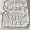 """Tribune-Star/Jim Avelis<br /> Mesker: The name of the C.L. Mesker Co. appears on the cast iron trim on the front of the Masonic Lodge in Bowling Green. The company's works were so wide-spread, the term """"Mesker"""" became the default term used for any building facade using their products."""