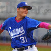 Tribune-Star/Jim Avelis<br /> On the mound: Dakota Bacus started on the mound for Indiana State in their series opener with Dallas Baptist on a cold, wet Friday night.
