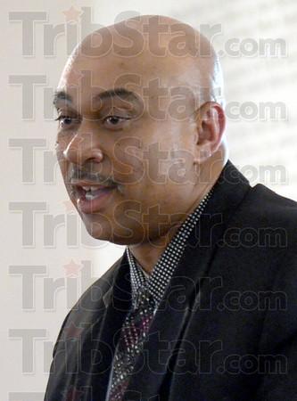 Pastor: Lost Creek Baptist Church Pastor Terrell Jones speaks to his congregation during Sunday's special celebration.