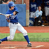Whiff: Indiana State's #32, Jeremy Lucas takes a swing at an incoming pitch during game action Sunday.