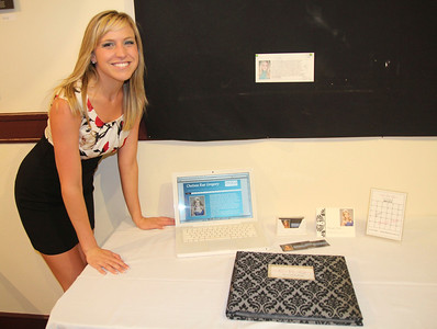 Students display their work at the Senior Communications Show for the Spring of 2012.