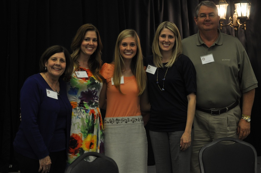 SGA hosts Senior Pinning in the LYCC on April 1st, 2012. Family and friends of the seniors came to show their love and support for their seniors. Sara Jolley with her family.