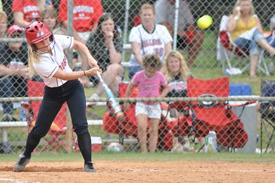 Jane Savage bats vs Charleston Southern on April 21, 2012.