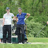 Tribune-Star/Jim Avelis<br /> Practice time: Indiana State golfer Emily Dixon hits a drives on the back nine of the Country Club of Terre Haute while team mates Gina Della Camera, McCall Christopher and Christina Beyerl watch.