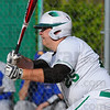 Tribune-Star/Jim Avelis<br /> RBI: West Vigo's Travis Lewzader watches his hit get out of the infield for a hit early in the Viking's game with North Vermillion Thursday evening.