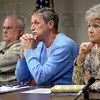 Thinkers: Vigo County Commissioners Cioli, Mason and Anderson listen to concerns of area citizens as they discuss the well drilling proposal by Hunter Von Leer.