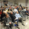 Concerned: The annex meeting room was filled to near standing room only for Monday's meeting dealing with a proposed oil well drilling near Hawthorne Park.