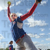 Rock and fire: South Putnam's Brooke Boetjer makes some throws as she prepares for Monday's game against North Putnam.
