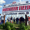 Family friendly: Hundreds attended the opening day ceremonies at the Riley Volunteer Field Monday afternoon. A Memorial Walkway was dedicated during the event.