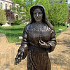 ST. MARY'S: Saint Mother Theodore Guerin stands watching over the campus Monday afternoon.