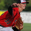 Tribune-Star/Jim Avelis<br /> Strong start: Damon Olds started on the mound for Terre Haute South, helping the Braves to a 11-1 lead after two innings over visiting South Vermillion.