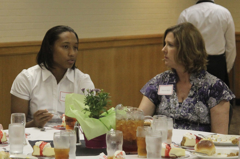 Brianna Dillard, with her mentor Mrs. Sharon Webb