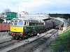 19 April 2012 :: Class 33, D6515 prepares to take the coaching stock from the Cathedrals Express rail tour from Swanage to Corfe Castle