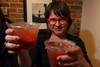 """Carrie Scroggins, with Linger, created a drink called """"Space Ghost.""""  """"The Art of Mixology,"""" benefiting Culturehaus, at the Artwork Network in Denver, Colorado, on Saturday, April 7, 2012.<br /> Photo Steve Peterson"""