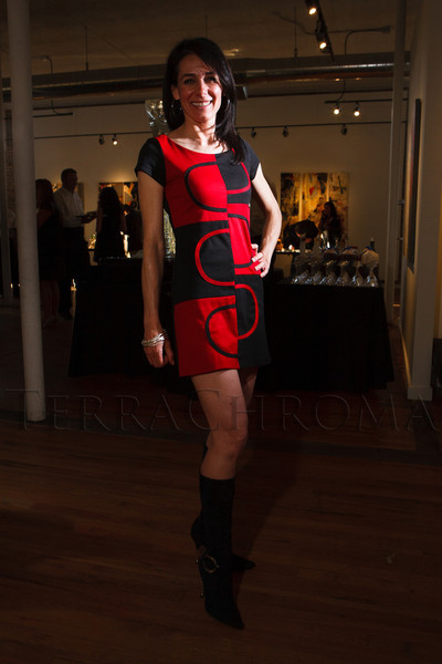 "Leah DiMarco in a dress found in Rome.  ""The Art of Mixology,"" benefiting Culturehaus, at the Artwork Network in Denver, Colorado, on Saturday, April 7, 2012.<br /> Photo Steve Peterson"