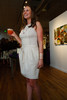 """Jenn McIntire in a dress found at the Palais-Royal in Paris, designed by Didier Ludot.  """"The Art of Mixology,"""" benefiting Culturehaus, at the Artwork Network in Denver, Colorado, on Saturday, April 7, 2012.<br /> Photo Steve Peterson"""